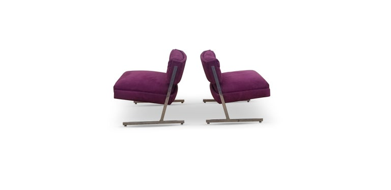 Pair of Harvey Probber lounge chairs.