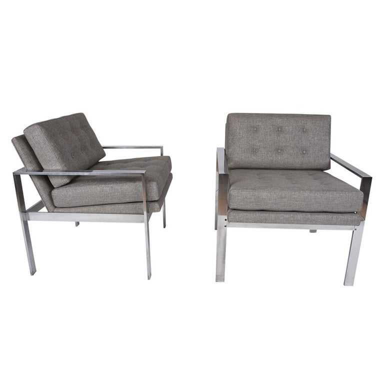Mid-Century Modern Pair of Harvey Probber Lounge Chairs For Sale