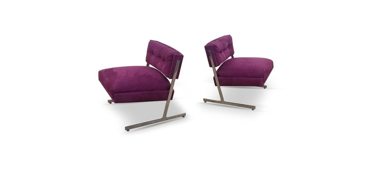 American Pair of Harvey Probber Lounge Chairs For Sale