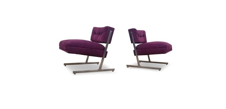 Pair of Harvey Probber Lounge Chairs In Good Condition For Sale In Middlesex, NJ