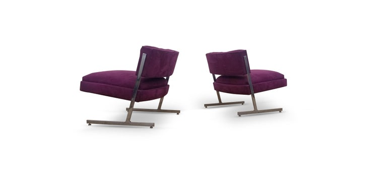 Fabric Pair of Harvey Probber Lounge Chairs For Sale