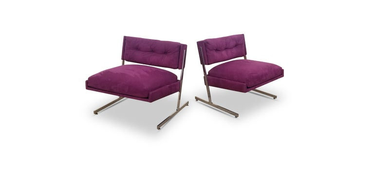 Pair of Harvey Probber Lounge Chairs For Sale 1