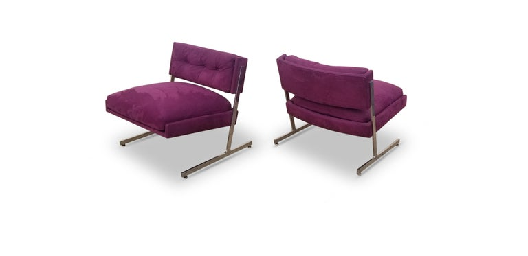 Pair of Harvey Probber Lounge Chairs For Sale 2