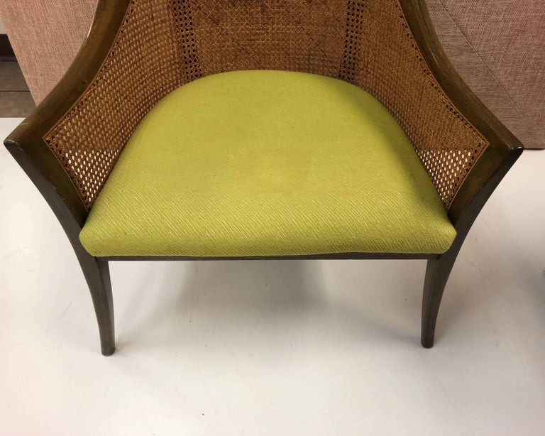 Cane Pair of Harvey Probber Side Chairs For Sale