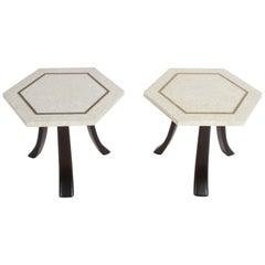 Pair of Harvey Probber Terrazzo Hexagonal Side Tables