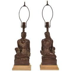 Pair of Hawaiian Figural Lamps