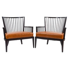 Pair of HBF Spindle Back Lounge Chairs