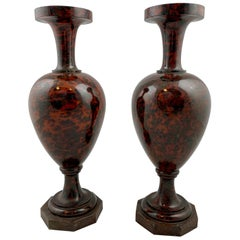Pair of Hardstone Vases, Early 19th Century