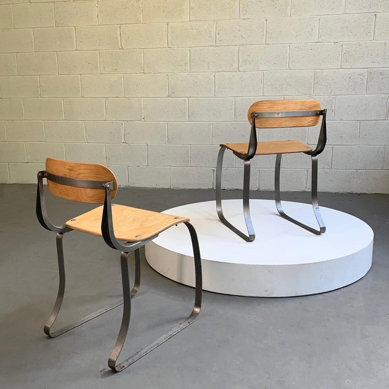 American Pair of Health Chairs by Herman Sperlich for Ironite For Sale