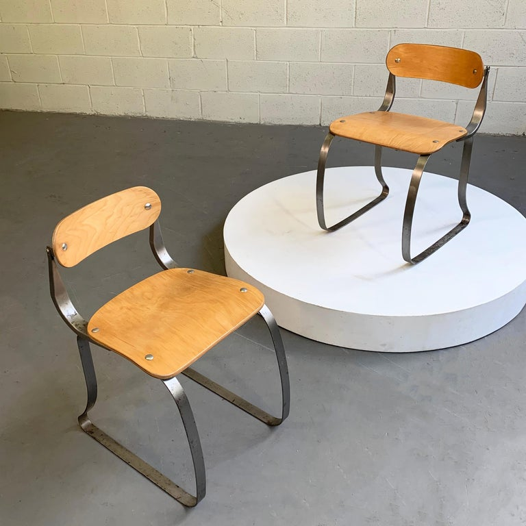 Pair of Health Chairs by Herman Sperlich for Ironite In Good Condition For Sale In Brooklyn, NY