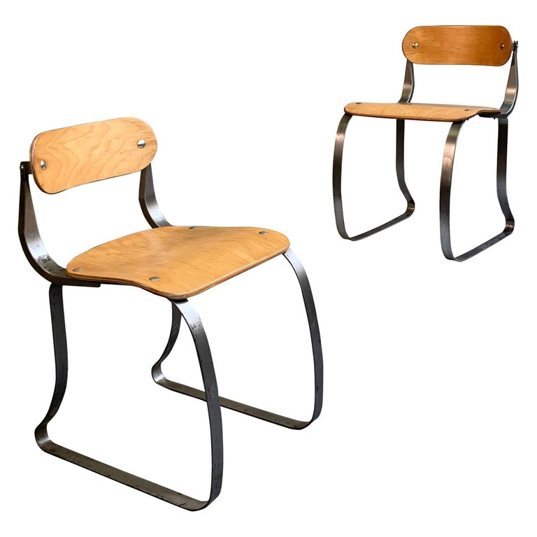 Pair of Health Chairs by Herman Sperlich for Ironite For Sale