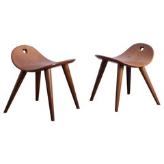 Pair of Heart Stools by Edward Wormley for Dunbar