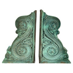 Pair of Heavy Bronze Architectural Corbels