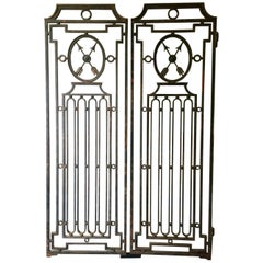 Pair of Heavy French Antique Iron Gates