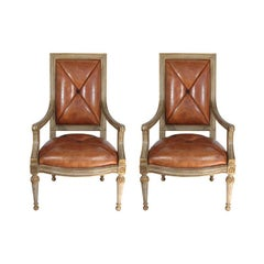 Pair of Hendrix or Allardyce Reproduction Armchairs