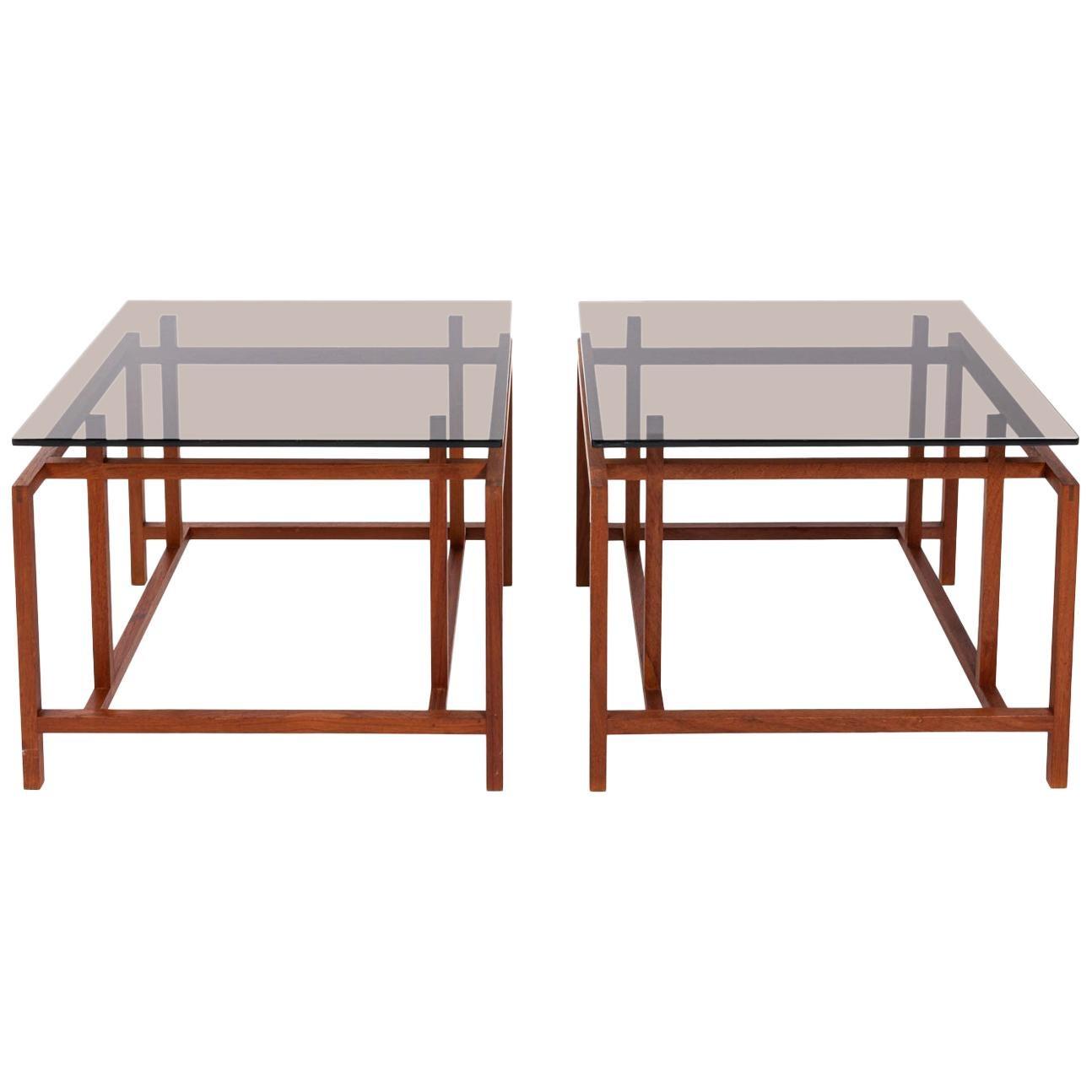 Pair of Henning Horgaard Rosewood End Tables by Komfort Mobler