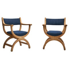Pair of Henning Kjaernulf Chairs in Oak, Denmark, circa 1960s