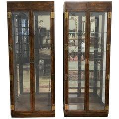 Pair of Henredon China Display Cabinets