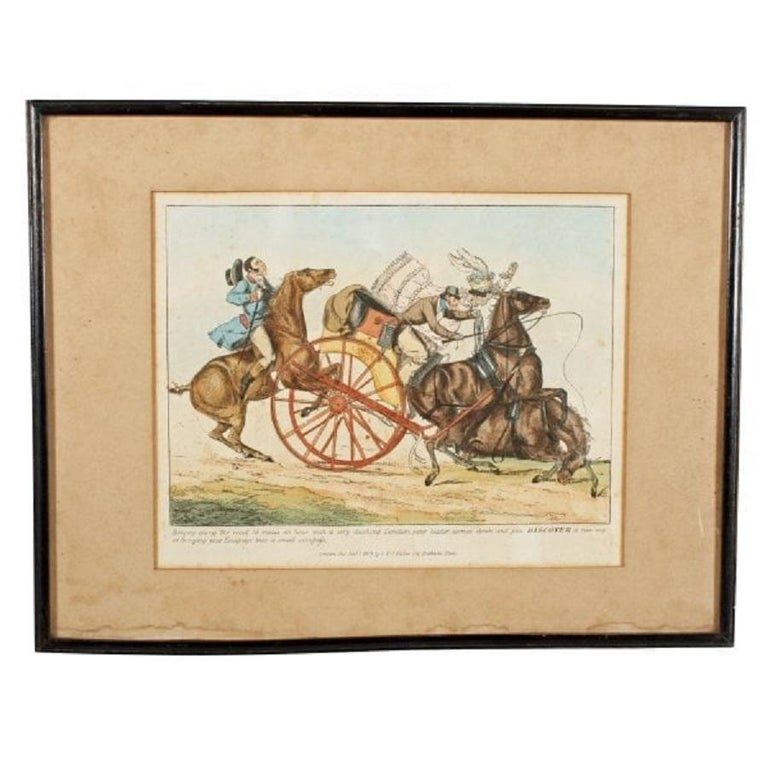 European Pair of Henry Aitken Coloured Etchings, 19th Century For Sale