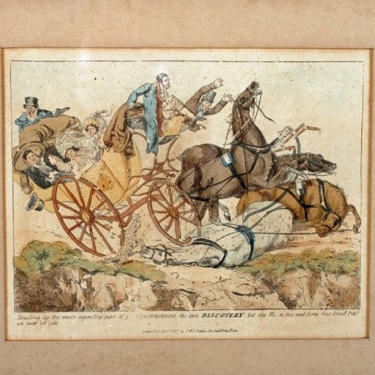 Pair of Henry Aitken Coloured Etchings, 19th Century In Good Condition For Sale In London, GB