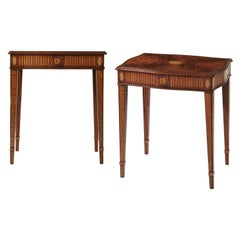 Pair of Hepplewhite Style Side Tables