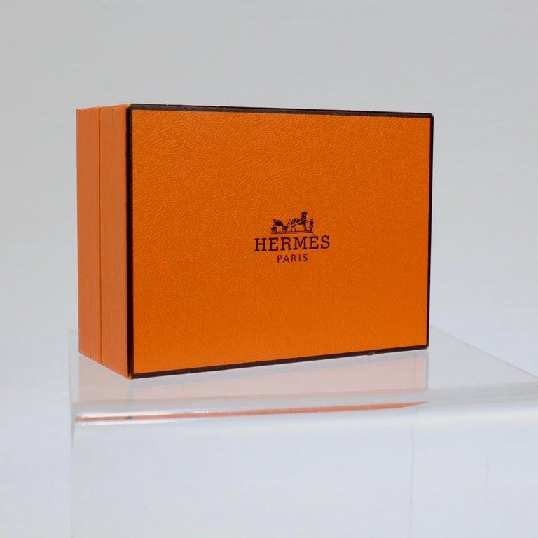 Pair of Hermes 18 Karat Gold Cufflinks For Sale 5