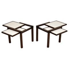 Pair of Hexa Side Tables by Bernard Vuarnesson for Bellato