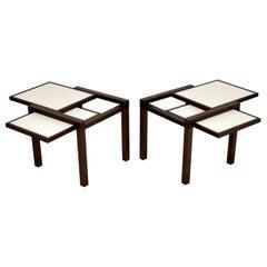 Pair of Hexa Side Tables by Bernard Vuarnesson for Bellato