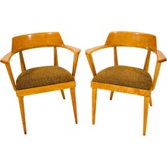 Pair of Heywood Wakefield Captains Chairs, M549