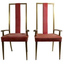 Pair of High Back Armchairs after Parzinger