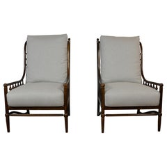 Pair of High Back Chairs