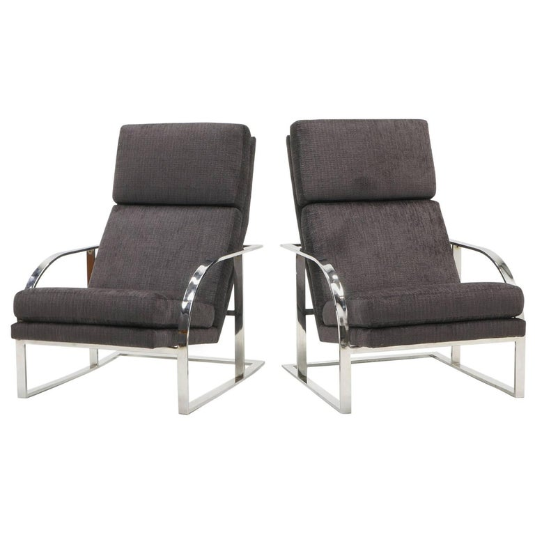 Strange Pair Of High Back Chrome Frame Lounge Chairs By Milo Forskolin Free Trial Chair Design Images Forskolin Free Trialorg