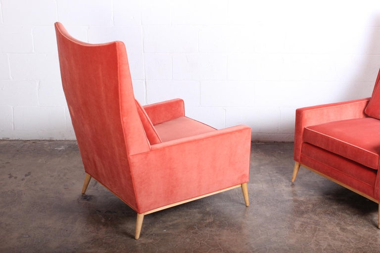 Pair of High Back Lounge Chairs by Paul McCobb For Sale 5