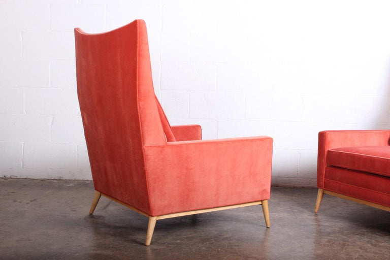 Pair of High Back Lounge Chairs by Paul McCobb For Sale 6