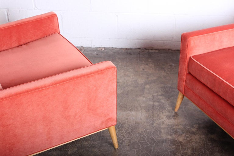 Pair of High Back Lounge Chairs by Paul McCobb For Sale 7