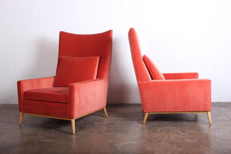 Pair of High Back Lounge Chairs by Paul McCobb In Excellent Condition For Sale In Dallas, TX
