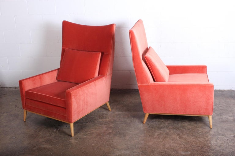 Mid-20th Century Pair of High Back Lounge Chairs by Paul McCobb For Sale