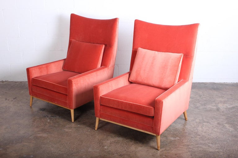 Maple Pair of High Back Lounge Chairs by Paul McCobb For Sale
