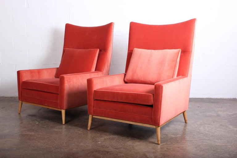 Pair of High Back Lounge Chairs by Paul McCobb For Sale 1