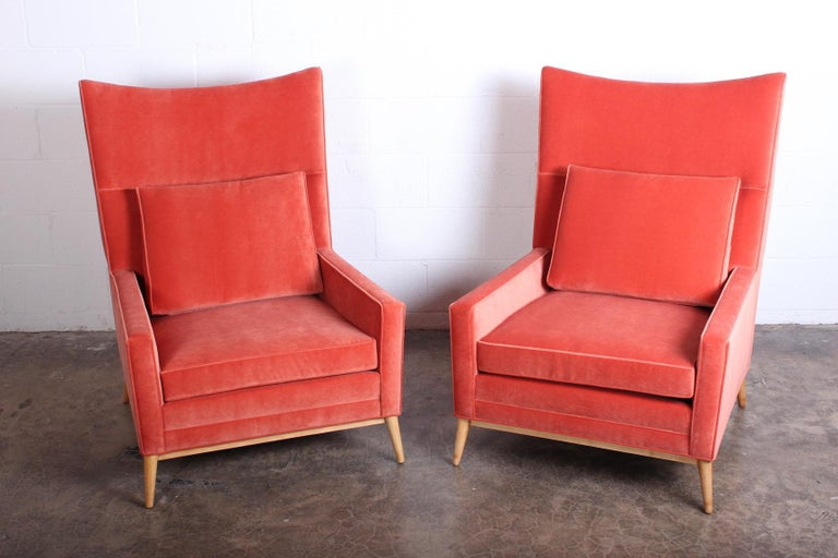 Pair of High Back Lounge Chairs by Paul McCobb For Sale 3