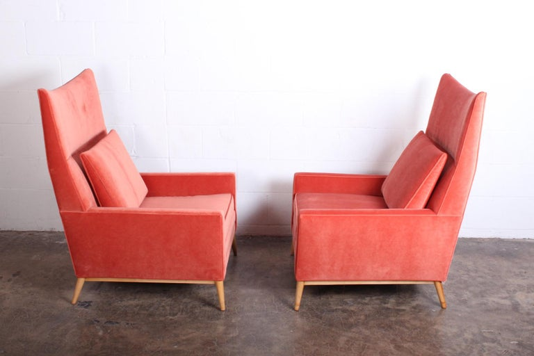 Pair of High Back Lounge Chairs by Paul McCobb For Sale 4
