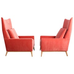 Pair of High Back Lounge Chairs by Paul McCobb