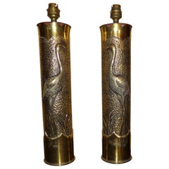 Pair of High Quality Signed Trench Art Shell Cases, circa 1917