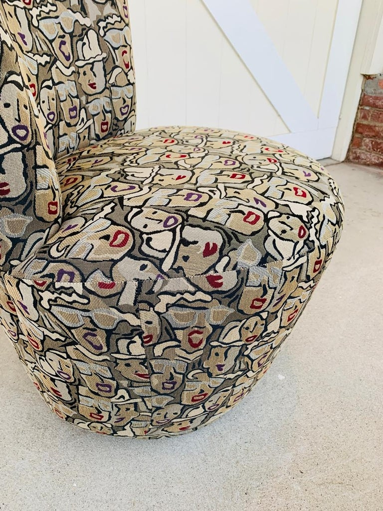 Late 20th Century Pair of Highback Swivel Chairs by Carter Furniture