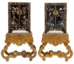 Pair of Highly Decorative Chinese Lacquer Cabinets