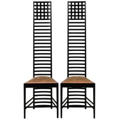 Pair of Hill House Ladder-Back Chairs, circa 1980