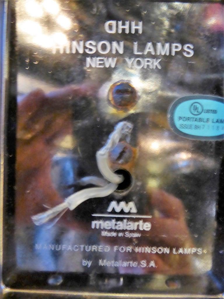 Pair Of Hinson Swing Arm Wall Lights In Bright Gunmetal