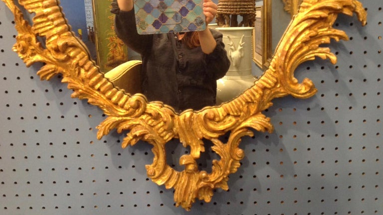 Pair of Ho Ho Bird Mirrors For Sale 2