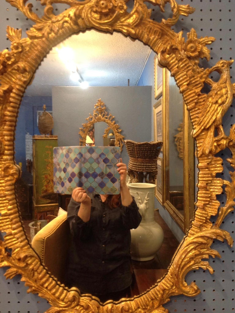 Pair of Ho Ho Bird Mirrors For Sale 3