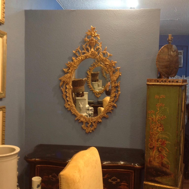 American Pair of Ho Ho Bird Mirrors For Sale